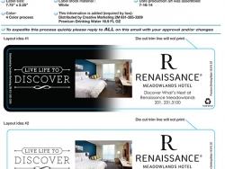 Template for 16.9 oz Bottled Water Label - Renaissance Meadowlands Hotel