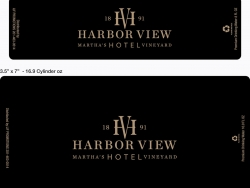 Template for 16.9 oz Bottled Water Label - Harbor View