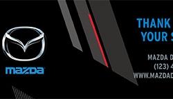 Template for 8 oz Bottled Water Label - Mazda