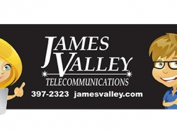 James Valley Telecommunications Custom Bottled Water Label