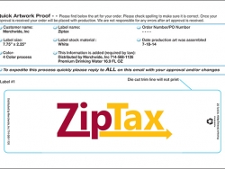 Template for 16.9 oz Bottled Water Label - ZipTax