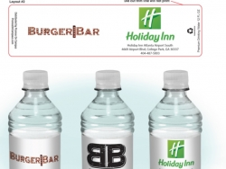 BurgerBar Custom Bottled Water Label