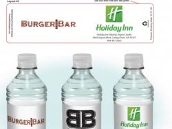 BurgerBar Custom Bottled Water Label