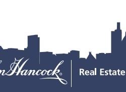 John Hancock Real Estate Custom Bottled Water Label