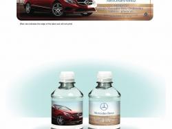 Mercedes Custom Bottled Water Label