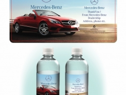 Mercedes Custom Bottled Water Label