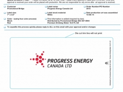Progress Energy Custom Bottled Water Label