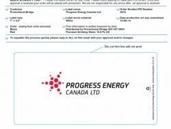 Progress Energy Custom Bottled Water Label