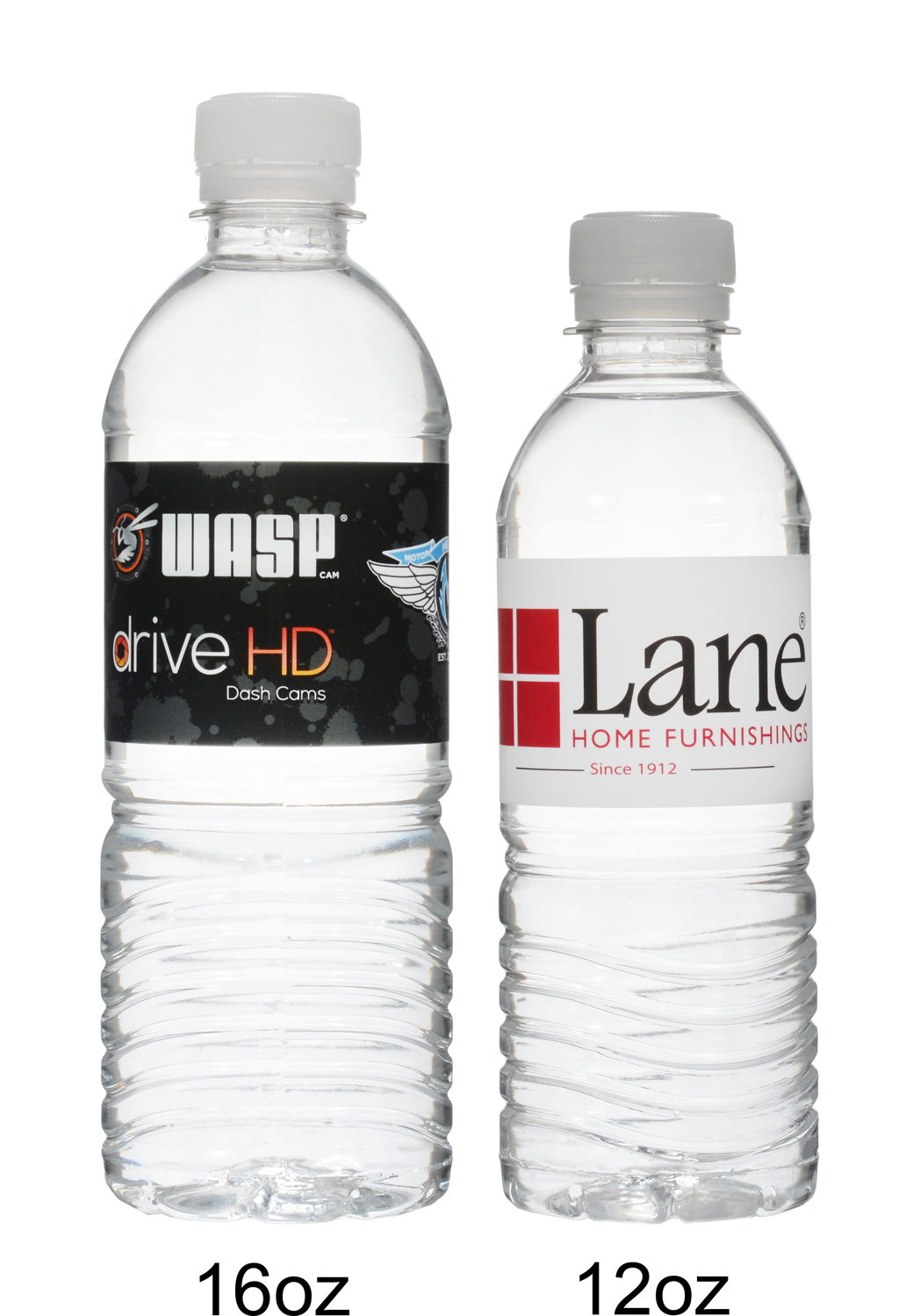 Custom water bottles produced and shipped from Arizona.