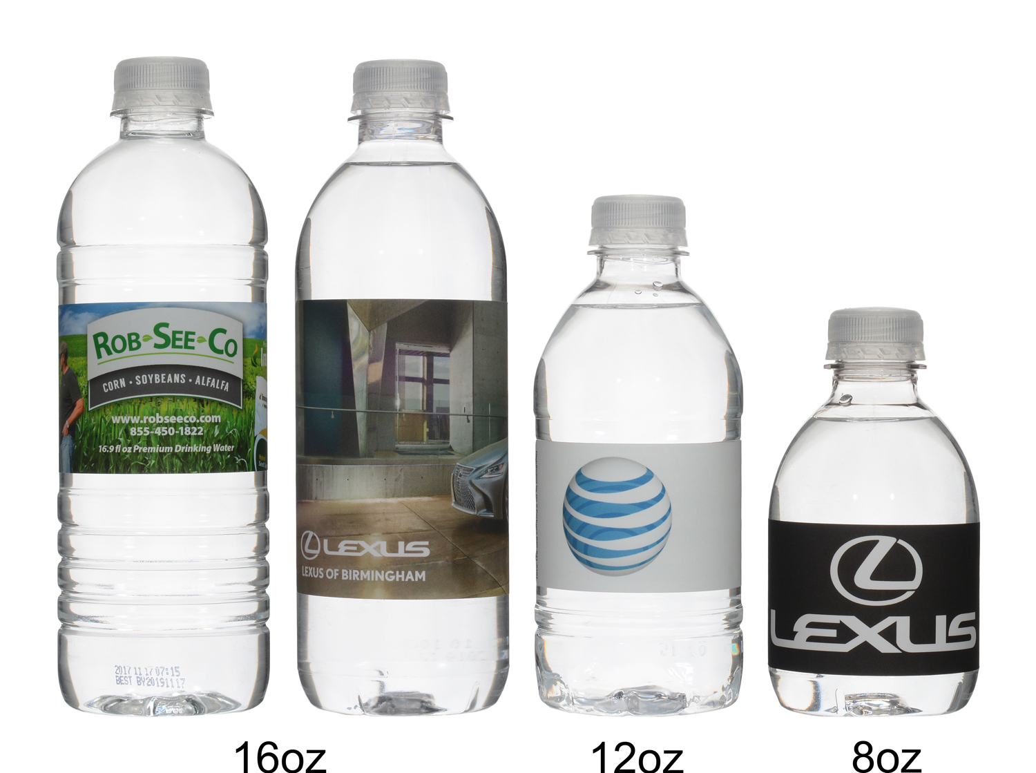 Custom water bottles produced and shipped from Florida.