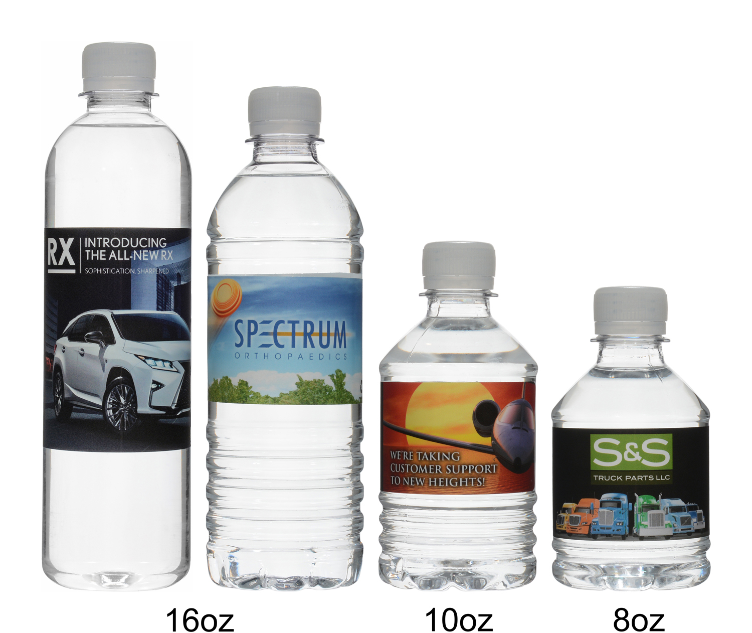 Custom water bottles produced and shipped from Maryland (#1).