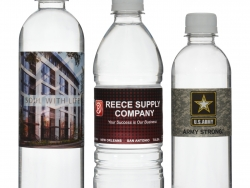 Custom water bottles produced and shipped from Idaho.
