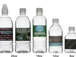 Custom water bottles produced and shipped from Pennsylvania.
