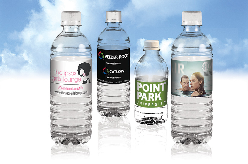 Purified Water Bottles and Custom Labels