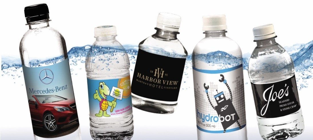 Promote Your Brand with Our Custom Bottled Water Labels